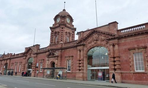 Nottingham  Railway Station frontage 2020 on Dennis Basford's railsroadsrunways.blogspot.co.uk'