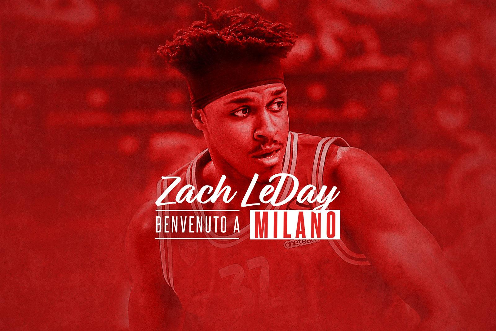 Olimpia Milano annuncia la firma di Zach LeDay con accordo biennale