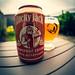 Can of Lucky Jack Norwegian Grapefruit  Beer (Cross Process Effect) (Olympus OM-D EM1.2 & M.Zuiko 8mm Fisheye Prime) (1 of 1)