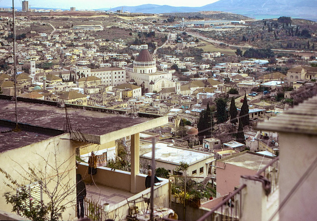 01 Nazareth January 1974 - view overlooking the Church of the Annunciation.jpg
