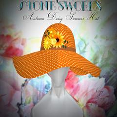 Summer Hat Autumn Daisy  Stone's Works