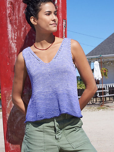Charlotte Amelie by Donna Yacino is knit using 2-4 cakes of Berroco Estiva.
