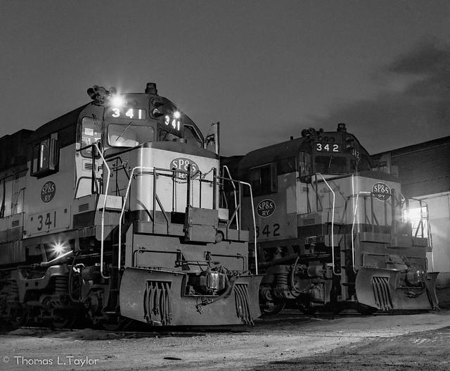 ALCO C-636s 341 and 342 at Klamath Falls