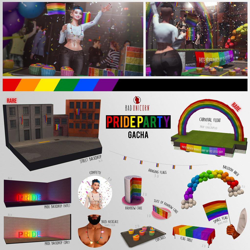 NEW! Pride Party Gacha @ The Arcade