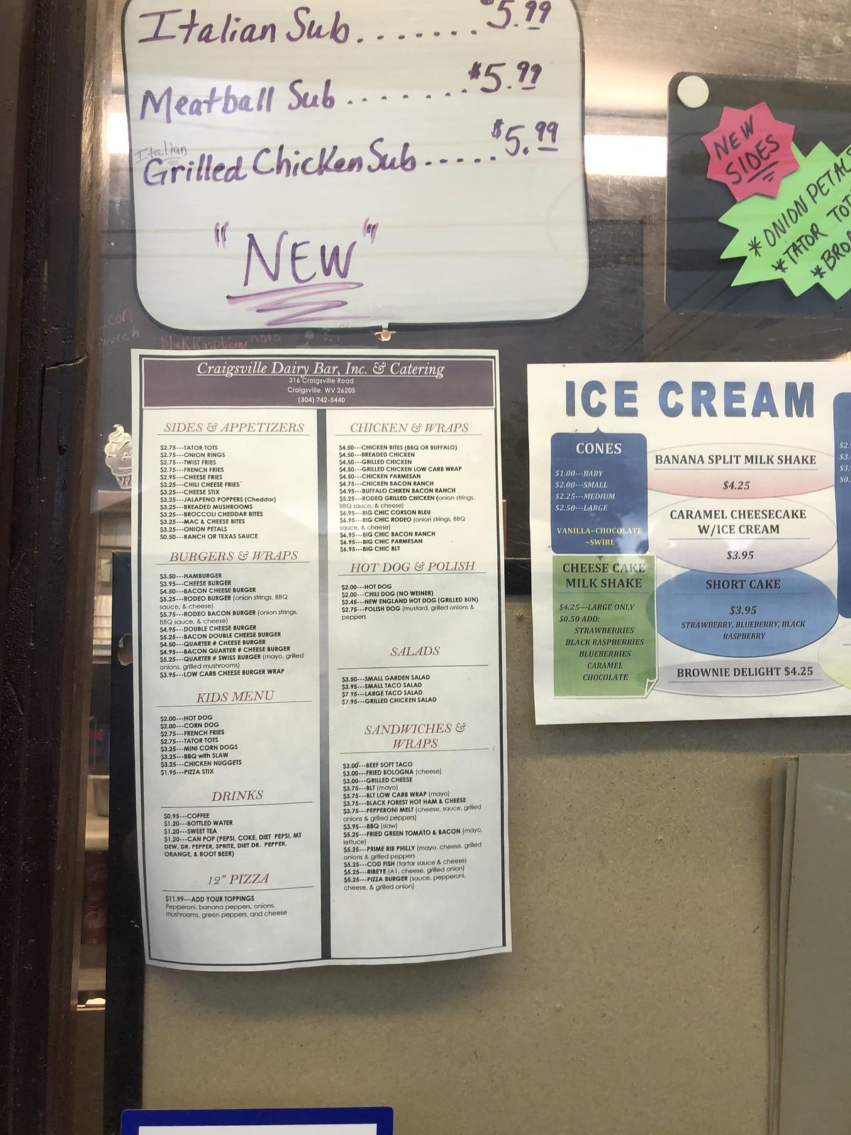 Craigsville dairy bar