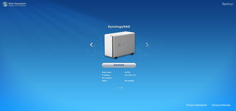 Synology DS220j - DSM - Setup #1