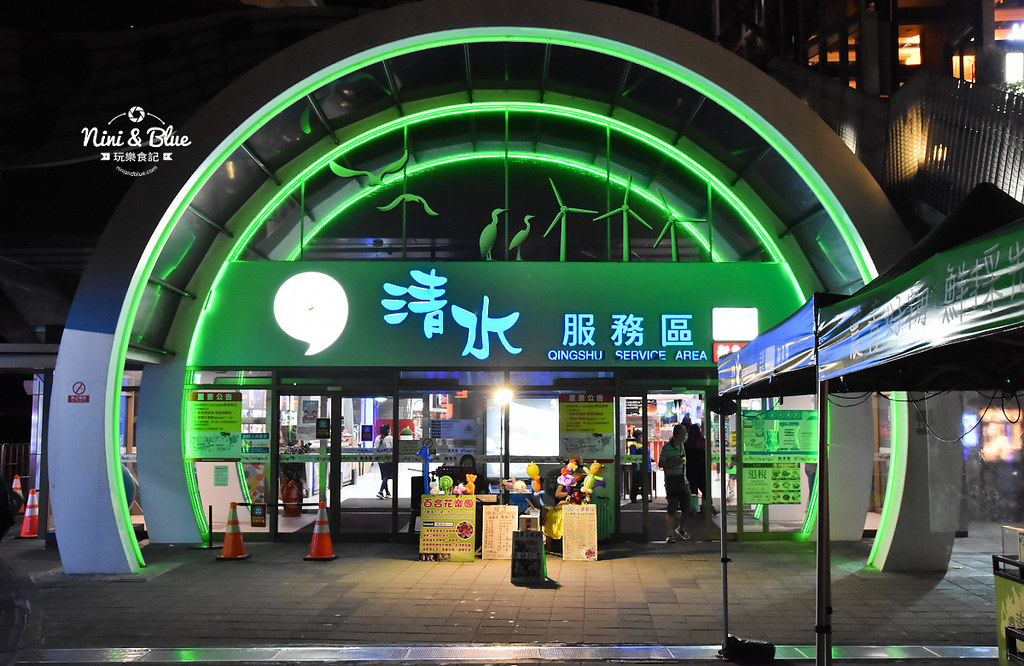 台中夜景夕陽 清水休息服務站美食12