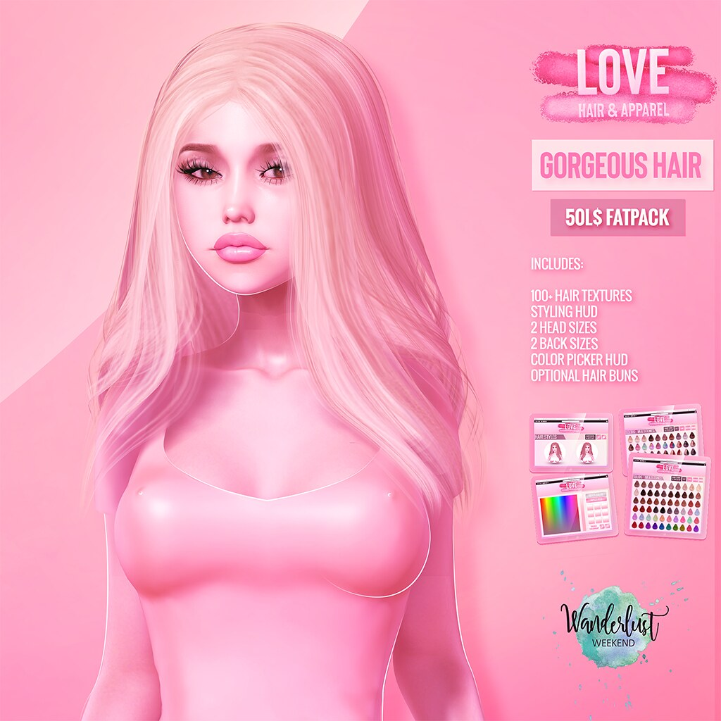Love [Gorgeous] 💥50L Hair Fatpack💥@ The Mainstore - Wanderlust Weekend!