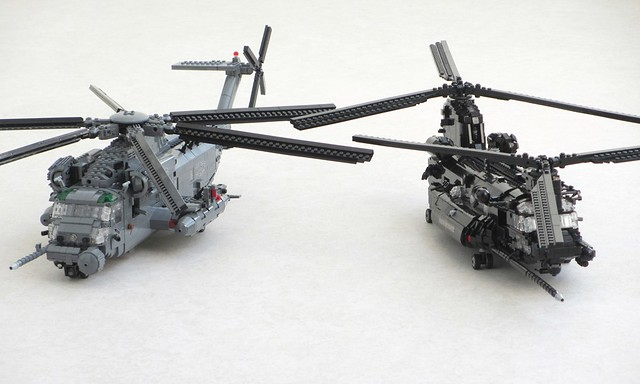 MH-53M Pave Low and MH-47E Chinook