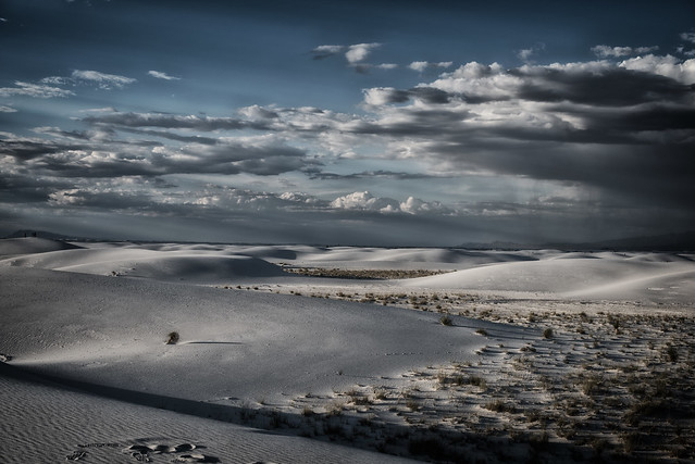 White Sands. It looks like snow but it was more than 50°C that day. 24 hours before two French tourists died because of heat.