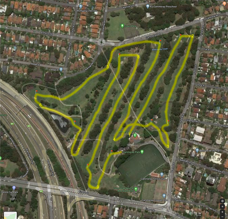 Cammeray golf course map