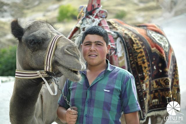 Camel & Boy In Turkey