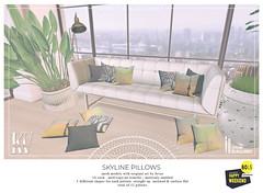 Atelier Burgundy + KraftWork . Skyline Pillows