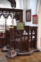 pulpit, screen, candle stock (19th Century)