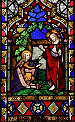 'noli me tangere' - Mary Magdalene meets the Risen Christ in the garden (O'Connor, 1850s)