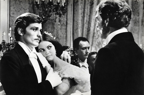 Alain Delon, Claudia Cardinale and Burt Lancaster in Il Gattopardo (1963)