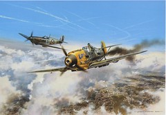 Flying Officer Peter Brown in combat with Oberfeldwebel Albert Friedemann over London on Sunday 20th October 1940.