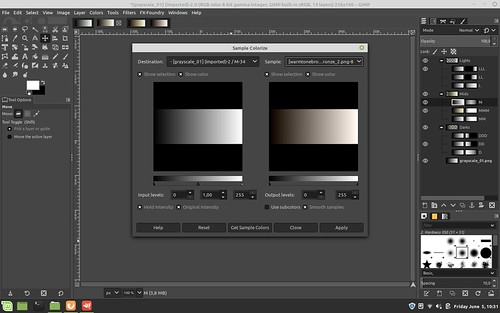the Gimp ~ converting gray scale with subtle tones