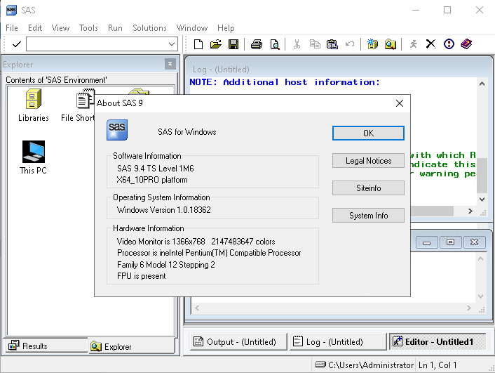 Working with SAS 9.4 M6 full license