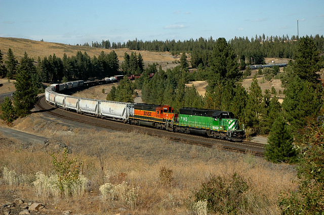BNSF 7145 west Spokane-Vancouver WA Manifest, Scribner Washington 09.09.2008
