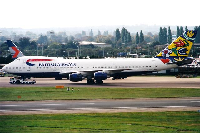 British Airways | Boeing 747-200 | G-BDXG | Flower Field | London Heathrow