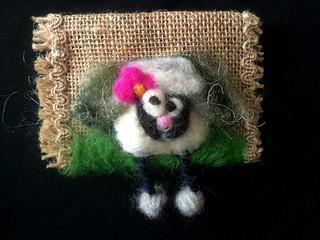 felt sheep pouch