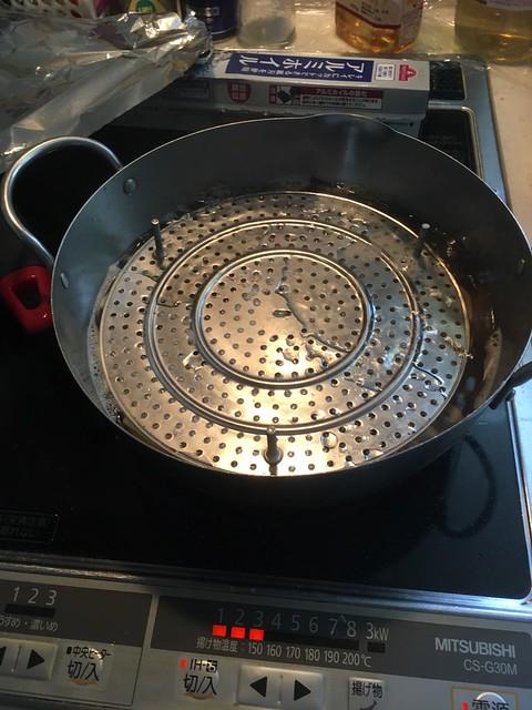 淡竹を煮る