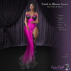 _CCD_Faith in Bloom Gown- Hot Pink & Black 1024