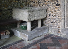Purbeck marble font (13th Century)