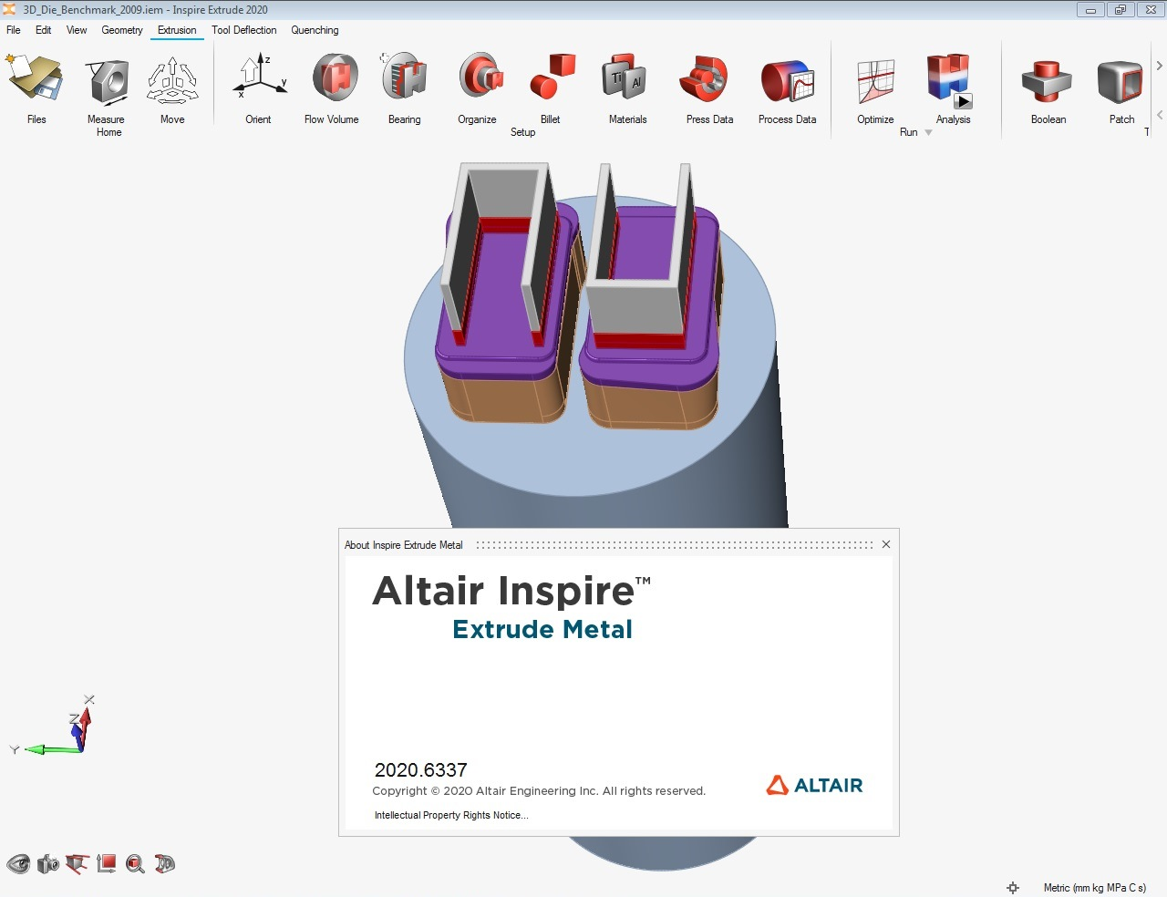 Working with Altair Inspire Extrude Metal 2020.0 Build 6337 full license