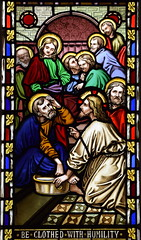 Christ washes Peter's feet (O'Connor, 1850s)
