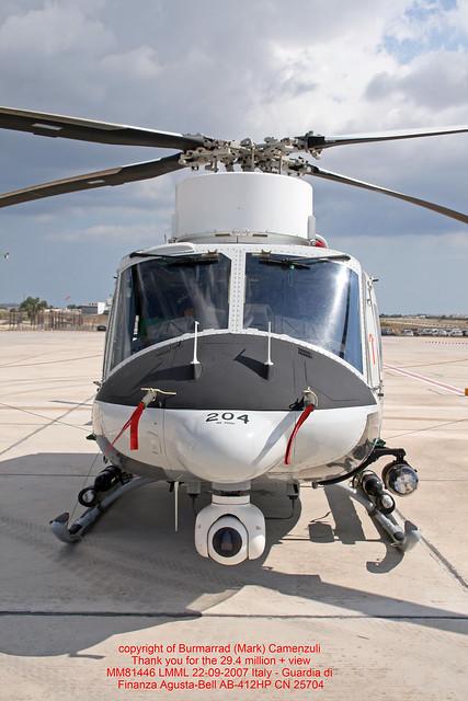 MM81446 LMML 22-09-2007 Italy - Guardia di Finanza Agusta-Bell AB-412HP CN 25704