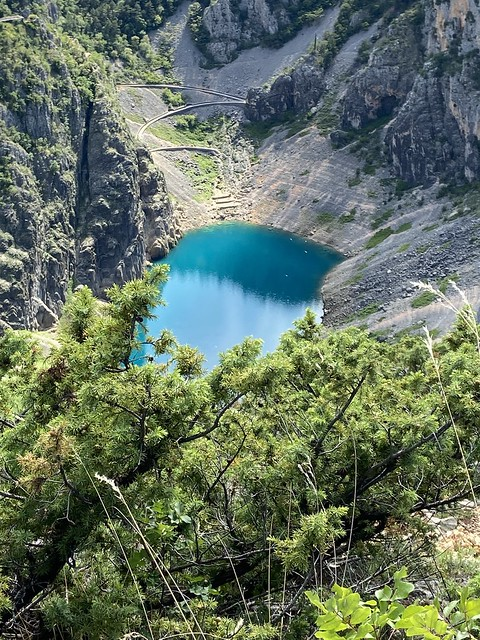 The Modro Jezero, or blue lake in Imotski, Croatia, photo take from the opposite side.