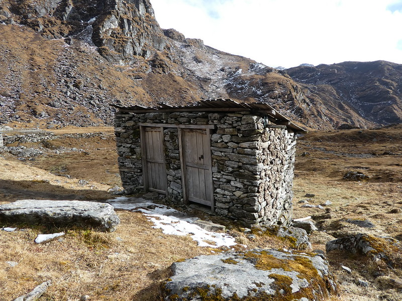 Loos at our Khola Kharka camp (4200m)