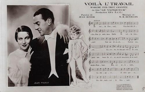 Jean Murat and Käthe von Nagy in Le Vainqueur (1932)