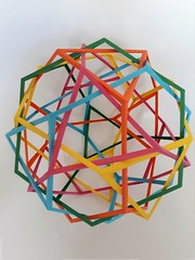 Five Interlocking Truncated Tetrahedra (Daniel Kwan)