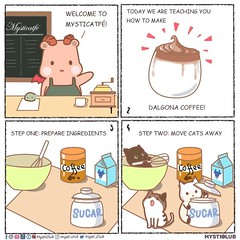 Welcome to the Mysticatfe! Today: a little lesson on Dalgona coffee! ☕️☁️✨