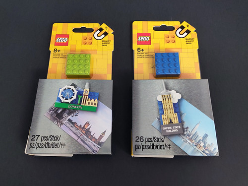 LEGO Magnets London (85402) & Empire State Building (854030)