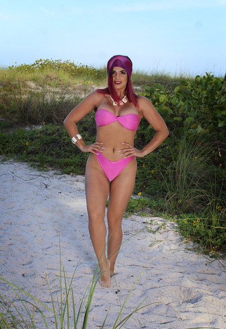 Barbara in a Strapless Bikini