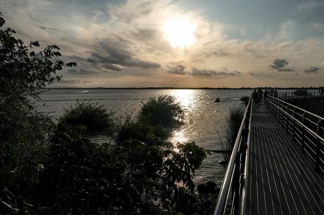 Brazilian River Footbridge