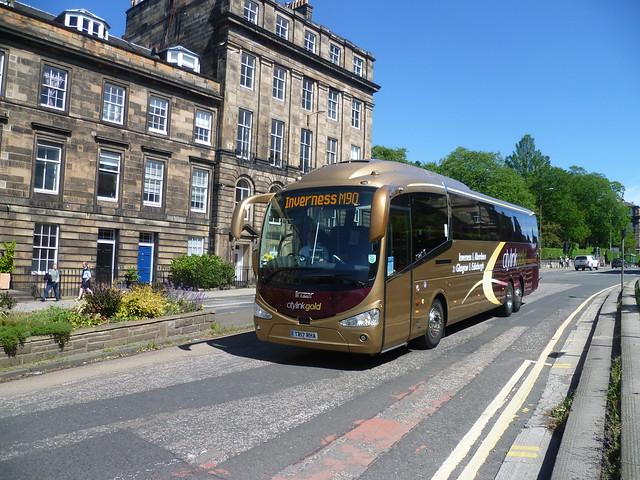 Edinburgh Coach Lines 809 at Lynedoch Place, Edinburgh
