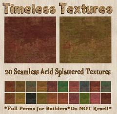 TT 20 Seamless Acid Splattered Timeless Textures