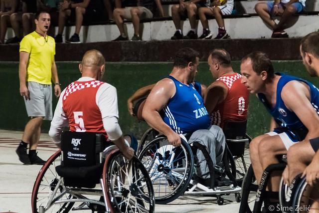 Revijalna utakmica košarkaša s invaliditetom: Reprezentacija Hr | Zadarska Ljetna Ligavatske - KKOI Zadar