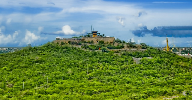 Fort Nassau restaurant, Sablica Hill, Willemstad, Curacao, Kingdom of the Netherlands