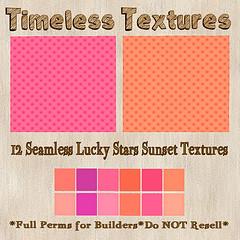 TT 12 Seamless Lucky Stars Sunset Timeless Textures