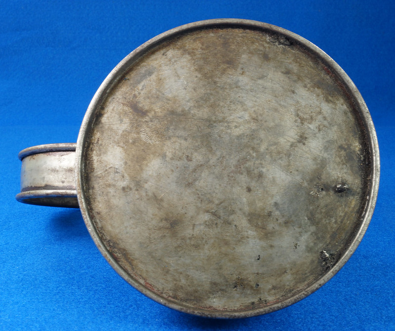 RD29023 Rare Antique Justrite Safety Can Brass Top with 2 Brass Badges No. 67659 DSC07127