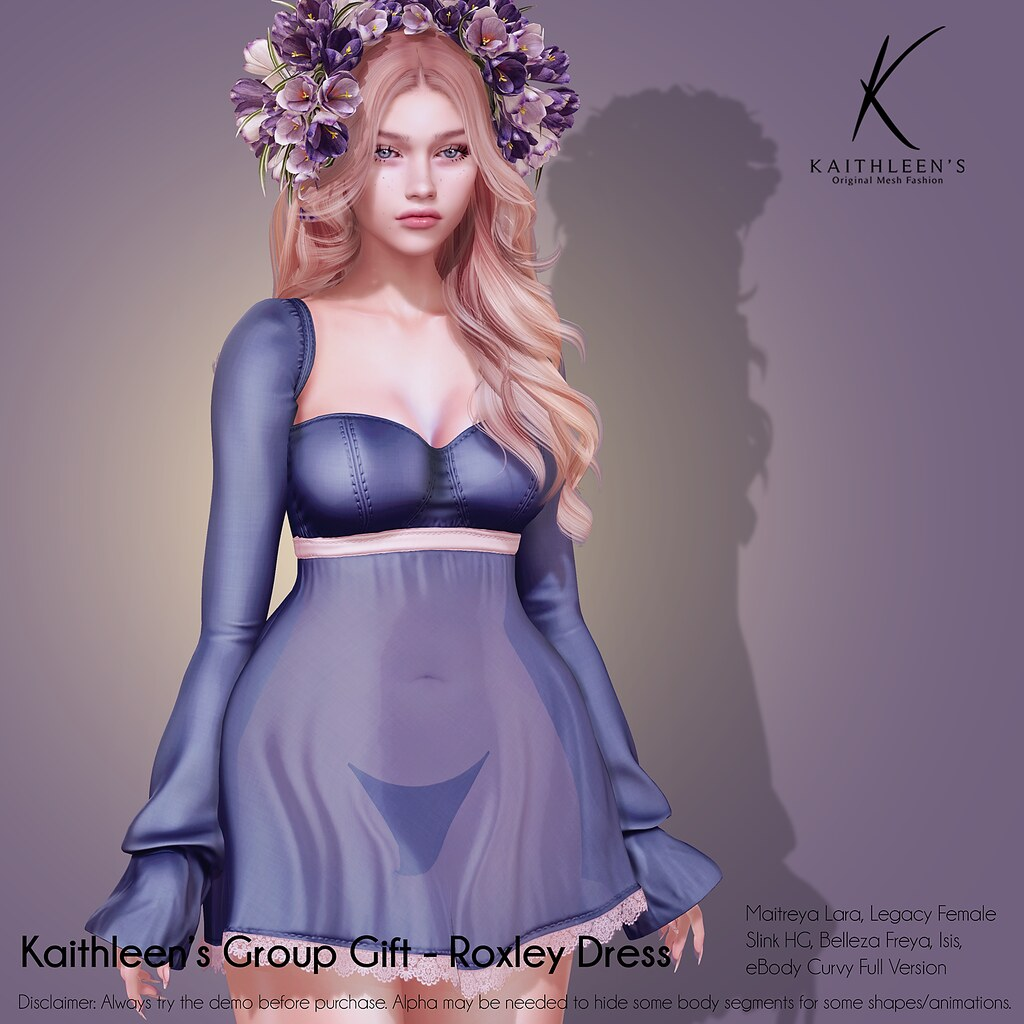 Kaithleen's Group Gift Roxley Dress Smoke web