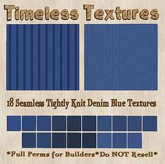 TT 18 Seamless Tightly Knit Denim Blue Timeless Textures