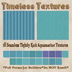 TT 18 Seamless Tightly Knit Aquamarine Timeless Textures