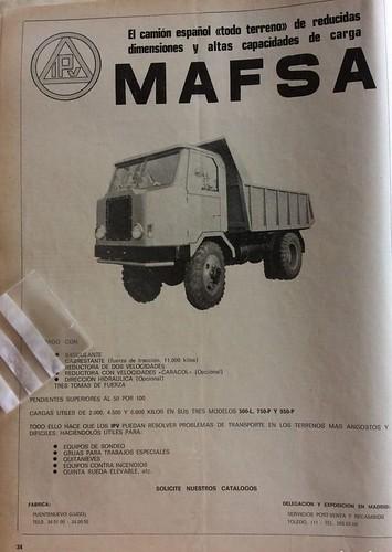 publicitat camió Mafsa IPV 1978